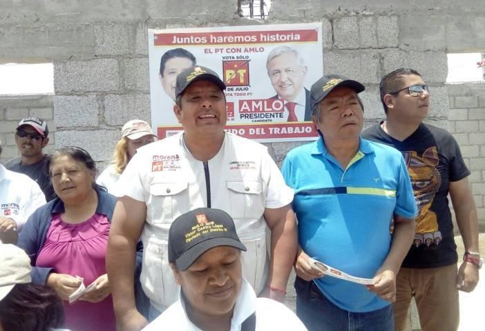 Recibe candidato a diputado local, Víctor Castro López, espaldarazo del PT