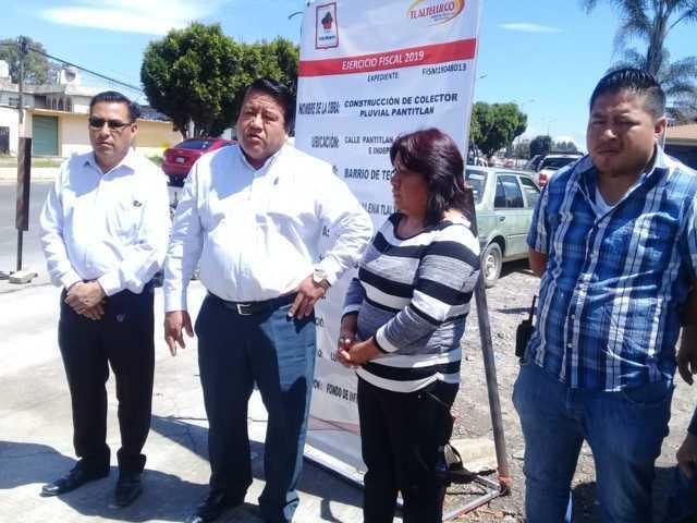 Alcalde puso en marcha obra para evitar inundaciones en varias calles