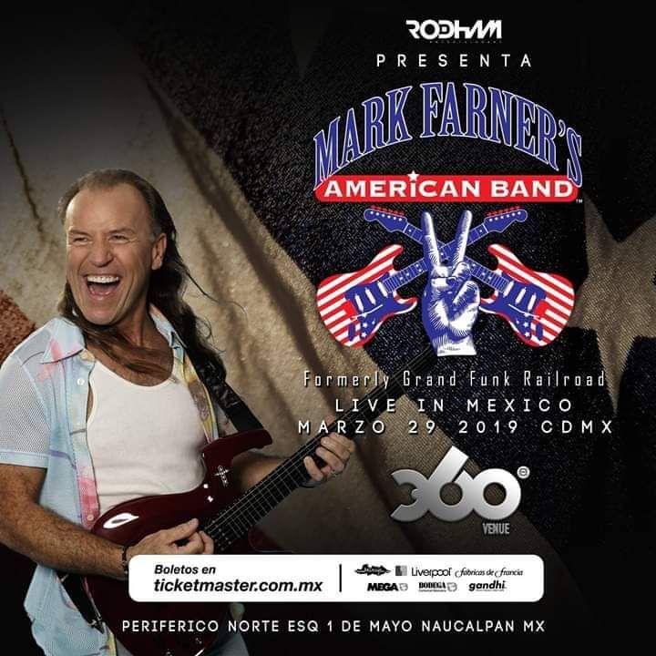 La Banda Grand Funk (Mark Farner)  se presentará en México el próximo   29 de Marzo