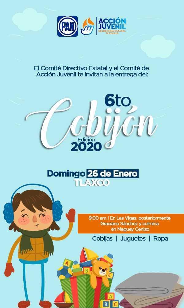 Organiza PAN Sexto Cobijón en Tlaxco; entregarán ropa, cobijas y juguetes