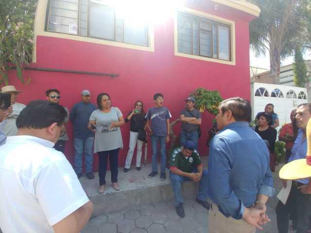 Reitera compromiso alcalde de Totolac, ejecutará obra en calle Canoa