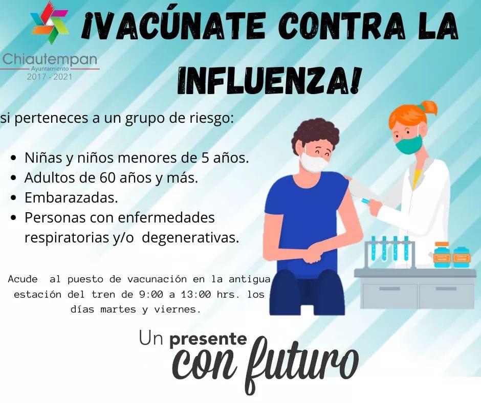 Comienza en Chiautempan la campaña: Vacúnate Contra La Influenza