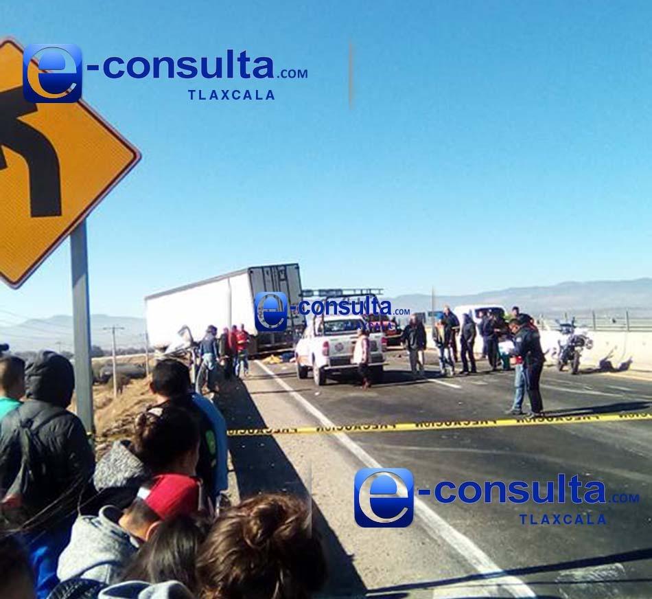 Un muerto y cuatro lesionados deja choque en el Libramiento Huamantla