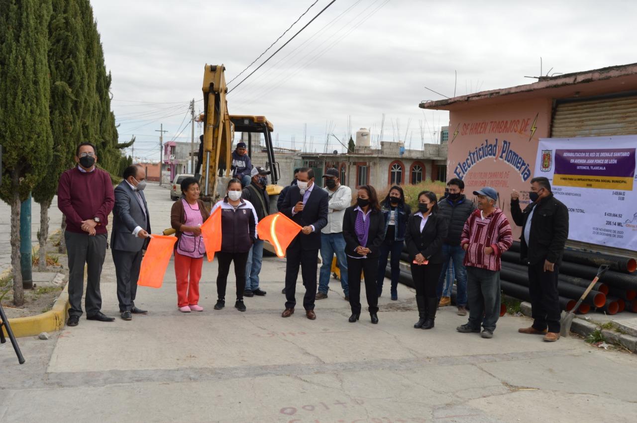 Arranca obra de pavimentación con concreto hidráulico en Av. Juan Ponce de León en Ixtenco