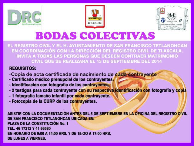 Invita Tetlanohcan a participar en bodas colectivas   e-consulta.com ...