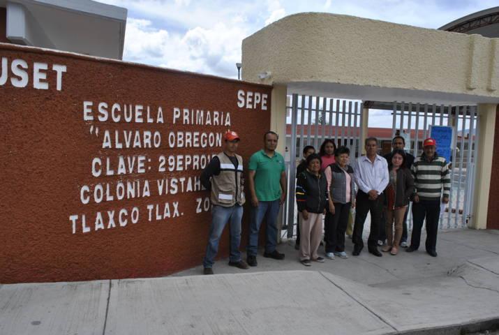 Continúan autoridades de Tlaxco revisión de instituciones educativas