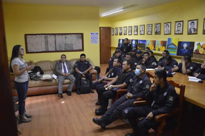 Policías municipales son capacitados por la FGR en cadena de custodia