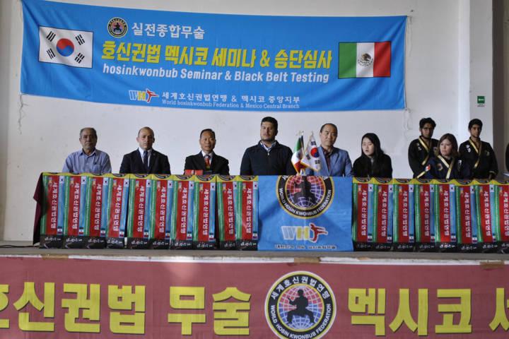 Cursa Policía De Tlaxco Seminario en Defensa Personal en Hosin Kwond Bub Coreano