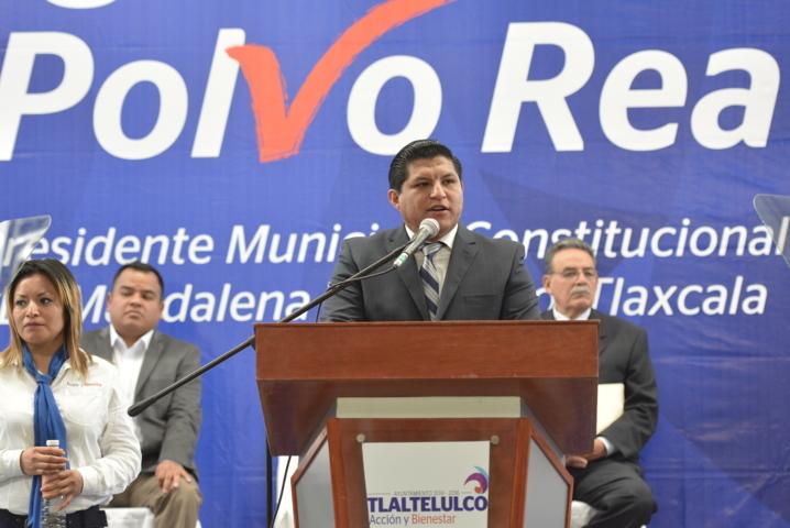Con acciones y trabajo conjunto en un año de gobierno transformamos Tlaltelulco: Polvo Rea