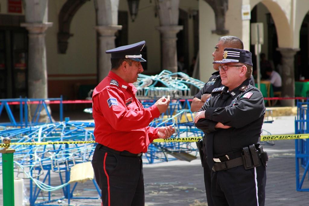 Realiza Policía Estatal inspecciones de seguridad en la capital del estado