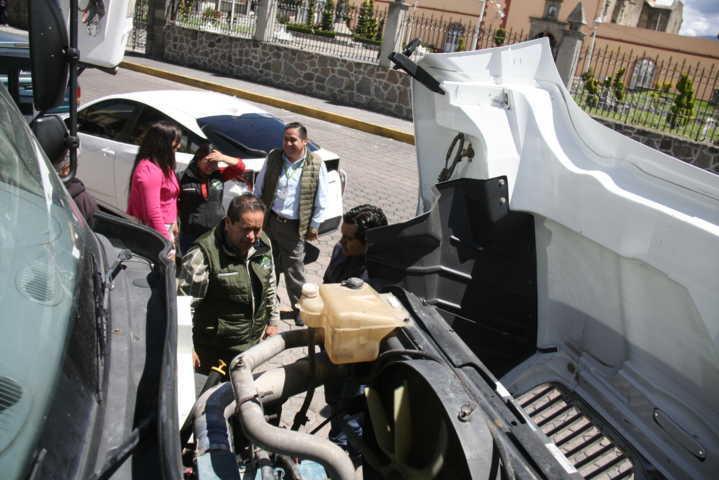 Alcalde rehabilita compactador de basura para mejorar el servicio en la comuna