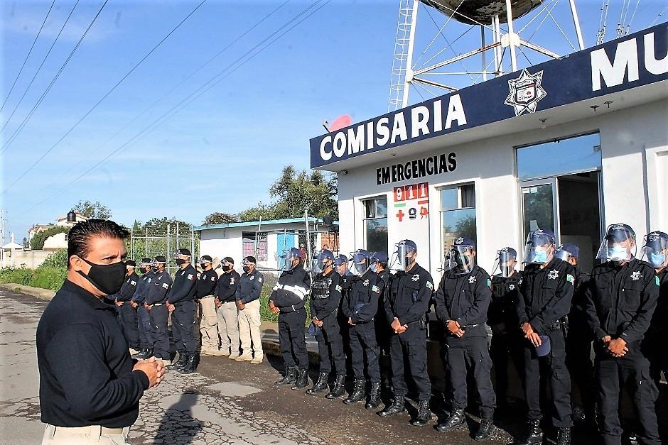 En Yauhquemehcan hacen la segunda entrega de insumos de protección a policías