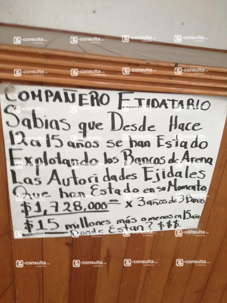 Excomisariada ejidal de Ixtenco se embolsaría 1.7 millones de pesos