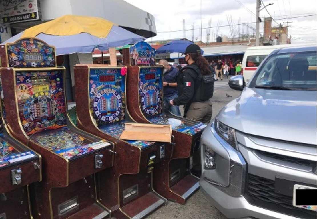 Aseguran la PFM y la SSC 45 máquinas tragamonedas en Tlaxcala