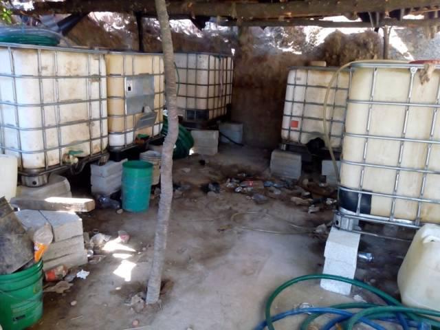 Ubican una bodega de huachicoleros en Teolocholco