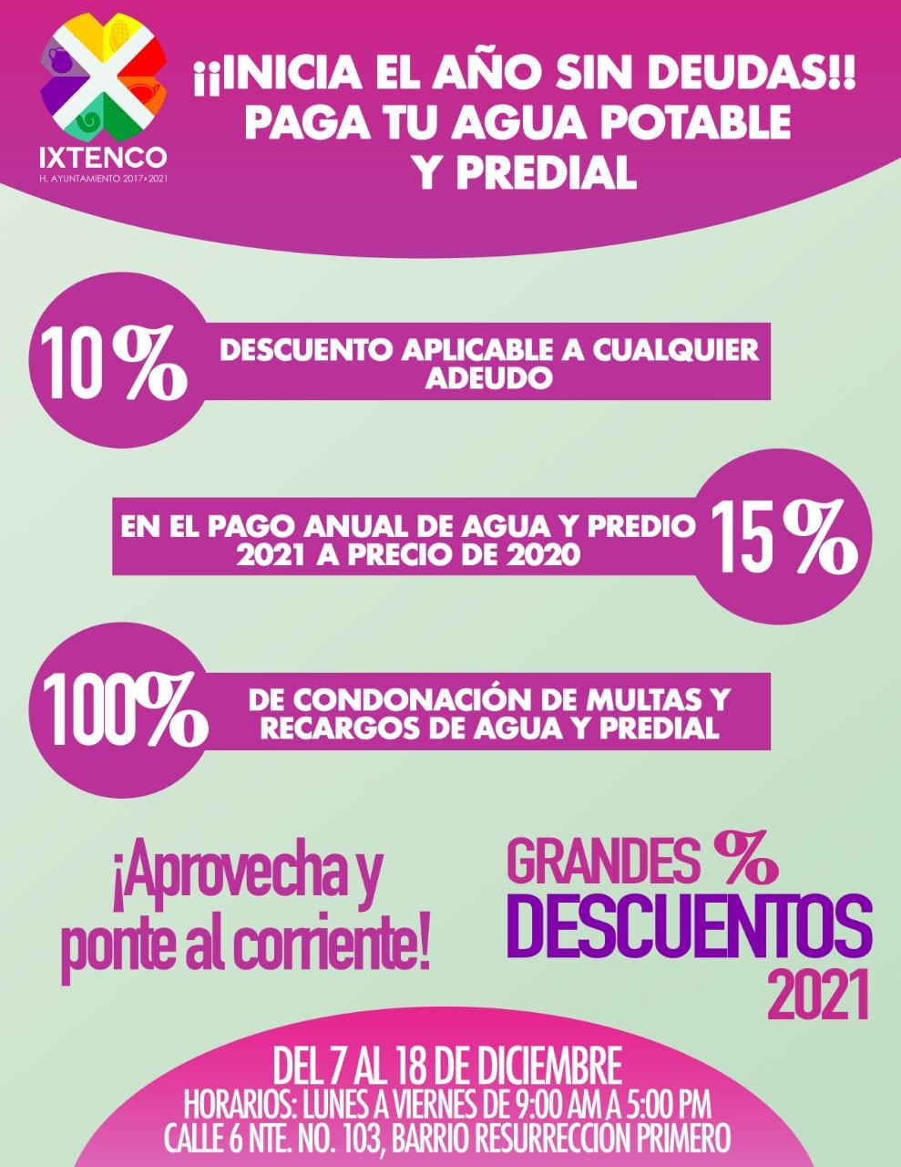 Anuncia Ixtenco, campaña decembrina de descuento en impuestos