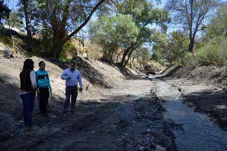 El desazolve en Dos Arroyos evitará inundaciones: alcalde