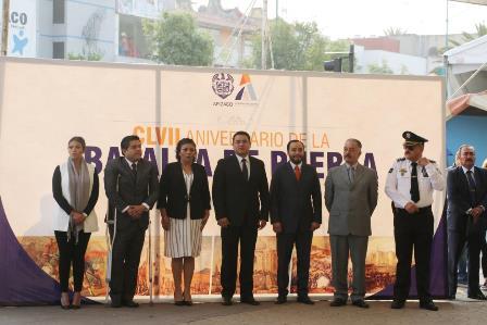 Edil de Apizaco encabeza conmemoración de la Batalla de Puebla