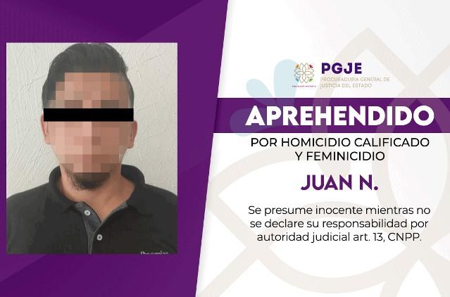 Capturan a segundo imputado en feminicidio registrado en 2019