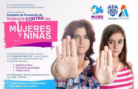 Lanzan en Apizaco campaña para prevenir violencia contra la mujer