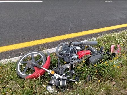 Atropellan a pareja en autopista Tlaxcala- Texmelucan