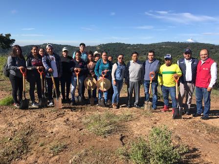 Ayuntamiento de Amaxac trabaja por la reforestación