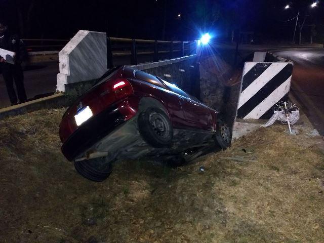 Aparatoso accidente se registra en la carretera Tlaxcala Santa Ana
