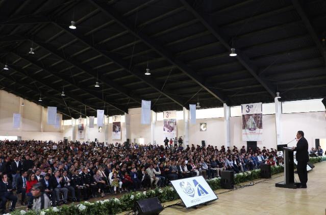De cara a 4 mil personas, alcalde de Apizaco rindió Informe de Gobierno