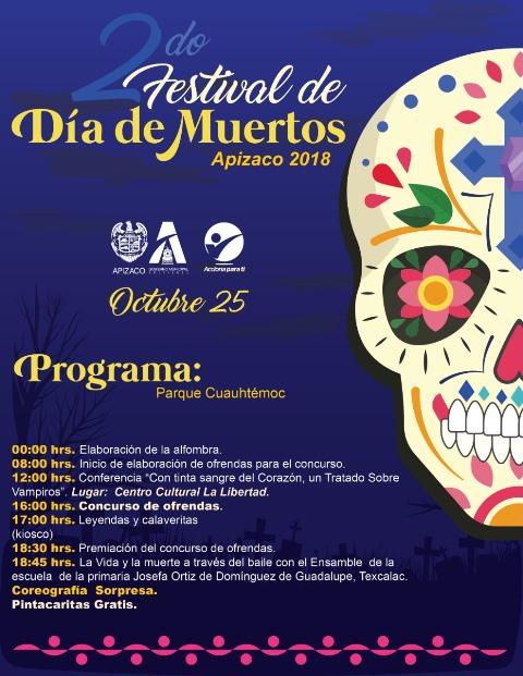 Todo listo para el Segundo Festival de Día de Muertos en Apizaco