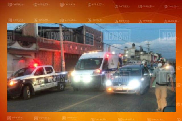 Choque en Panotla deja dos personas lesionadas