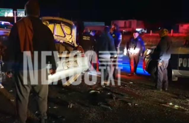 Fuerte accidente sobre la Apizaco- Huamantla deja tres heridos de gravedad