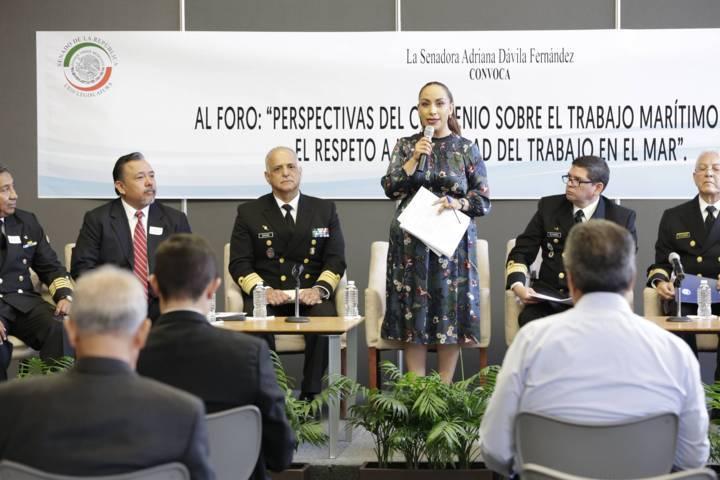 Hay que impulsar mecanismos legislativos en pro de trabajadores del mar: Adriana Dávila