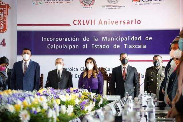 Encabeza diputada Ramírez conmemoración de la anexión de Calpulalpan a Tlaxcala