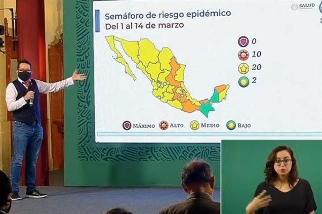 Tlaxcala y otros 19 estados regresan al color amarillo del semáforo epidemiológico