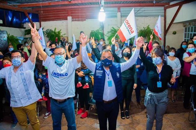 Se lleva Ángelo Gutiérrez al mejor posicionado de Morena en Apetatitlán