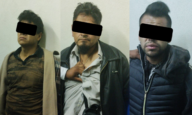 Detienen en Chiautempan a tres personas por portación de arma
