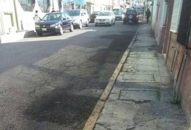 Denuncian pésimo bacheo del ayuntamiento de Tlaxcala