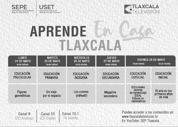 """Presentan barra temática de """"Aprende en Casa Tlaxcala"""" del 24 al 28 de mayo"""
