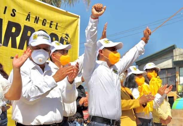 Con éxito cierra campaña de Luis Ángel Barroso; va por la victoria