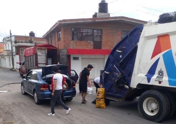 Dicen que el clima afecta rutas de recolección de basura en Apizaco