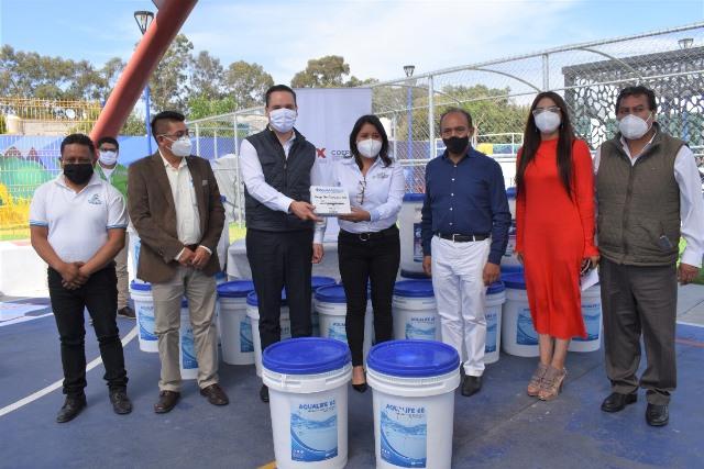 Zacatelco  sede de la entrega de insumos para la cloración de agua