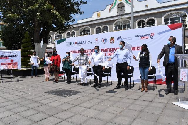 Arrancan en Zacatelco Brigadas Municipales ante Covid-19 e Influenza