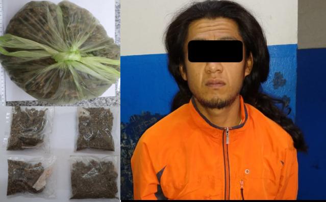 Capturan policías de Chiautempan a narcomenudista
