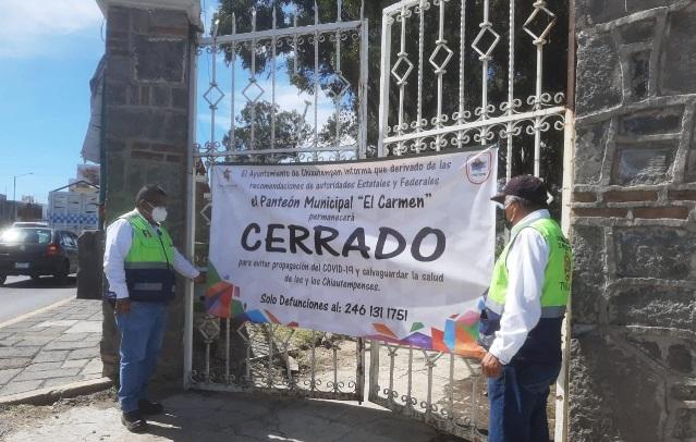 Reportan sobre saturación del panteón El Carmen de Chiautempan