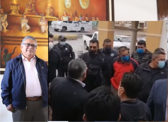 Policías de Contla le exigen a Don Cheto que no sea transa