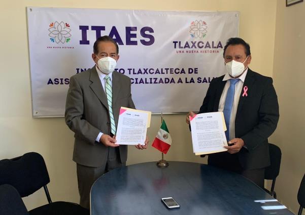 Itaes y Ceam firman convenio para mejorar servicios de salud en Tlaxcala
