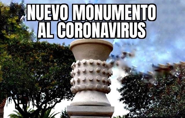 Se pitorrean del monumento al Coronavirus construido en Calpulalpan