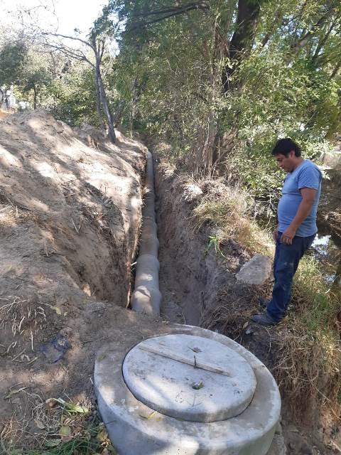Se construye drenaje en la comunidad de Los  Reyes Quiahuixtlan de Totolac