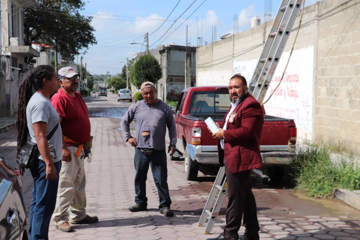 Supervisa Badillo Jaramillo trabajos de mantenimiento en Xicohtzinco