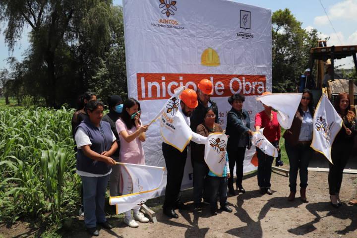 Inicia Gobierno de Xicohtzinco construcción de obras